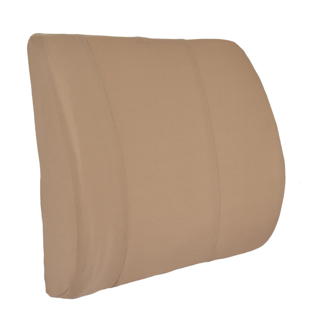 Beige Lumbar Cushion Back Support Travel Pillow Foam Car