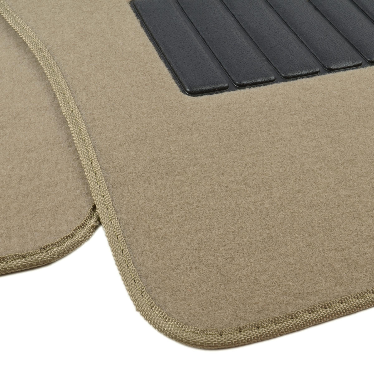 Auto Floor Mats For Car Classic Carpet W Heelpad Beige
