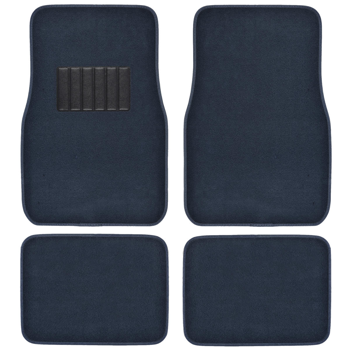 blue car floor mats liner pads utility mat standard fit 4pc auto interior. Black Bedroom Furniture Sets. Home Design Ideas