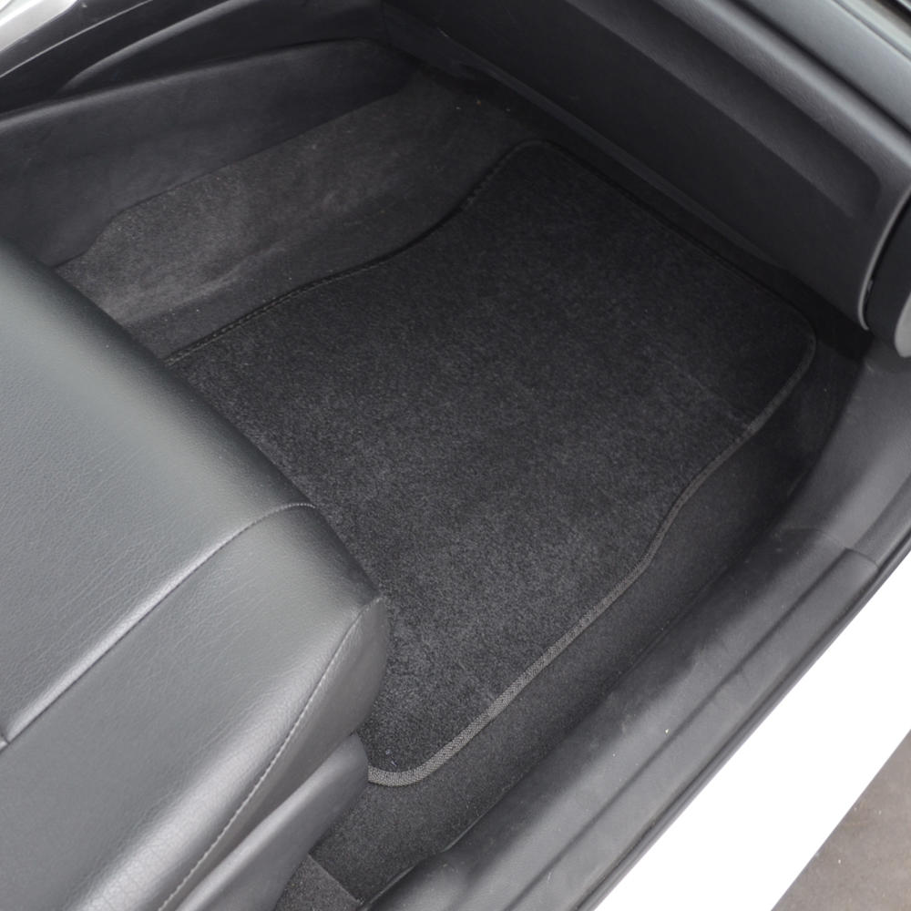Black Ash Gray Car Seat Covers Carpet Floor Mats 60 40 Bench Interior Protectors Ebay