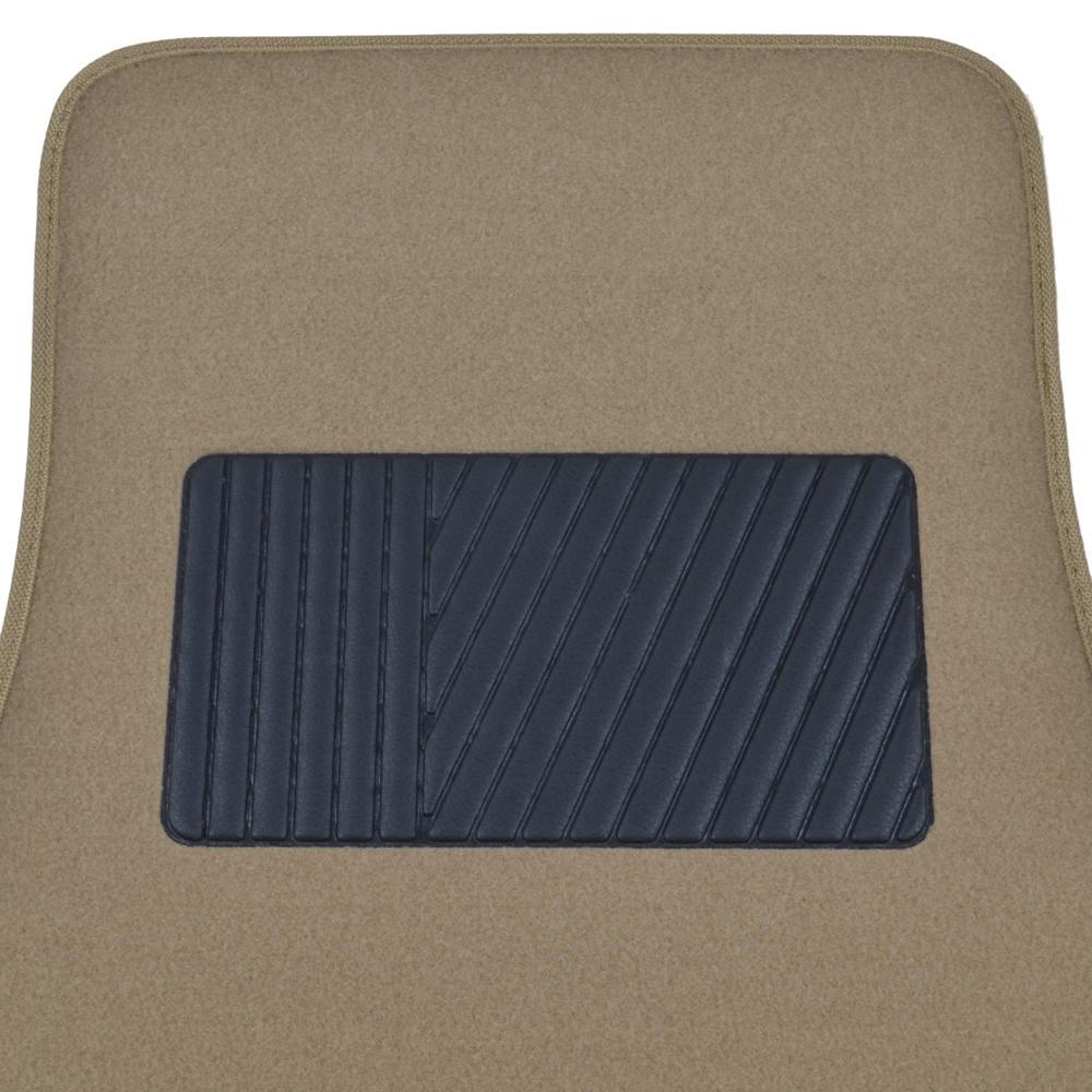 Solid Medium Beige Premium Car Auto Thick Carpet Floor Mat