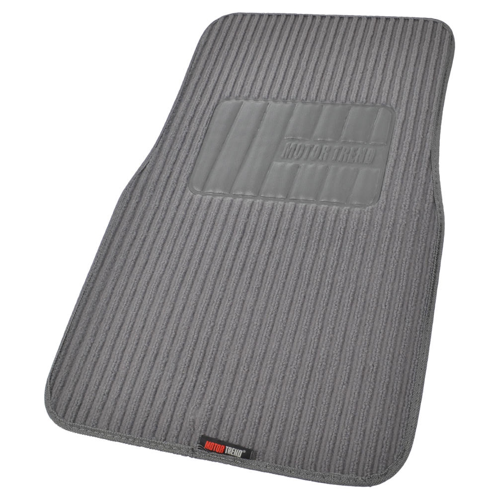 classic gray seat covers for car truck suv auto w ribbed floor mats ebay. Black Bedroom Furniture Sets. Home Design Ideas