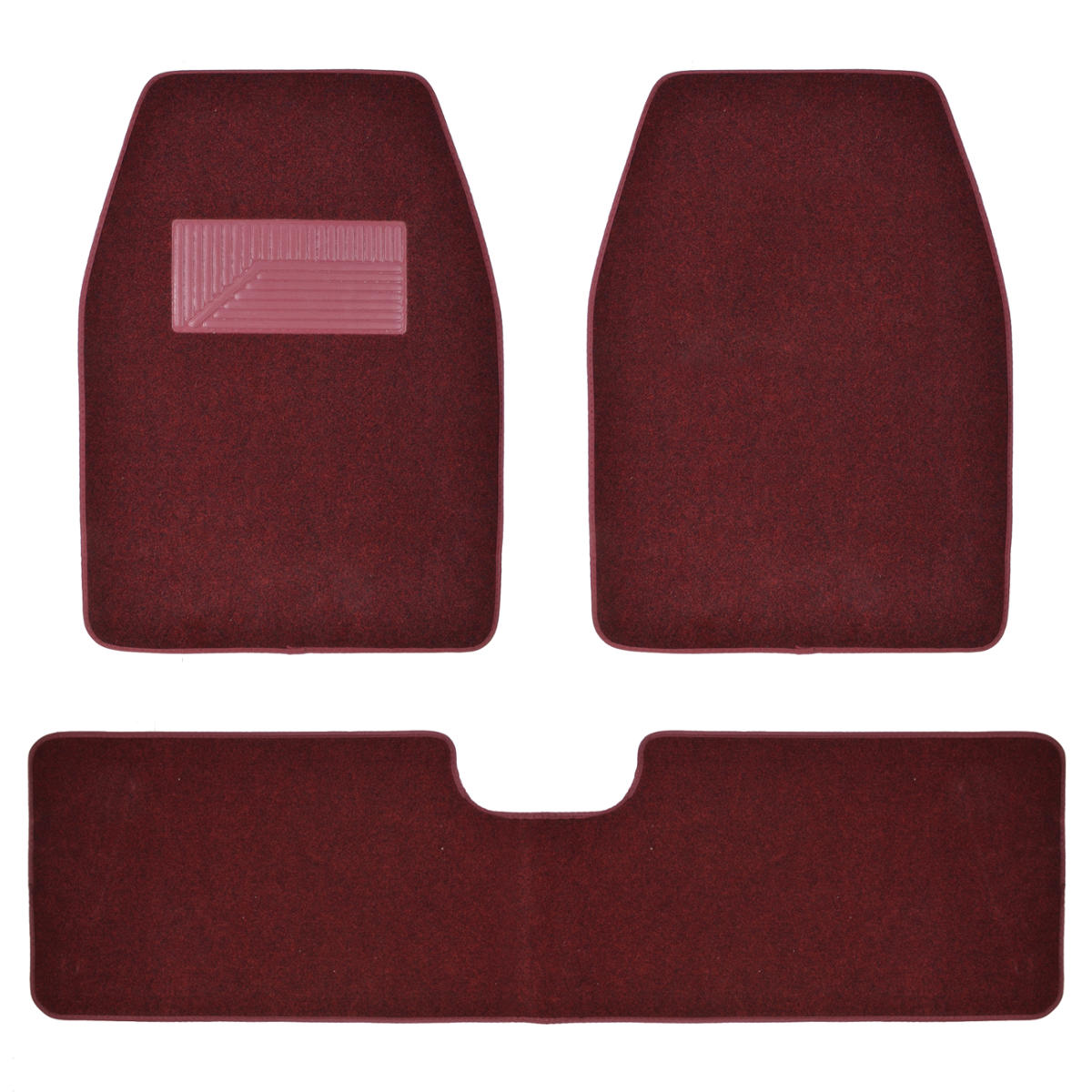 3pc Set Burgundy Heavy Duty Carpet SUV Van Pickup Car