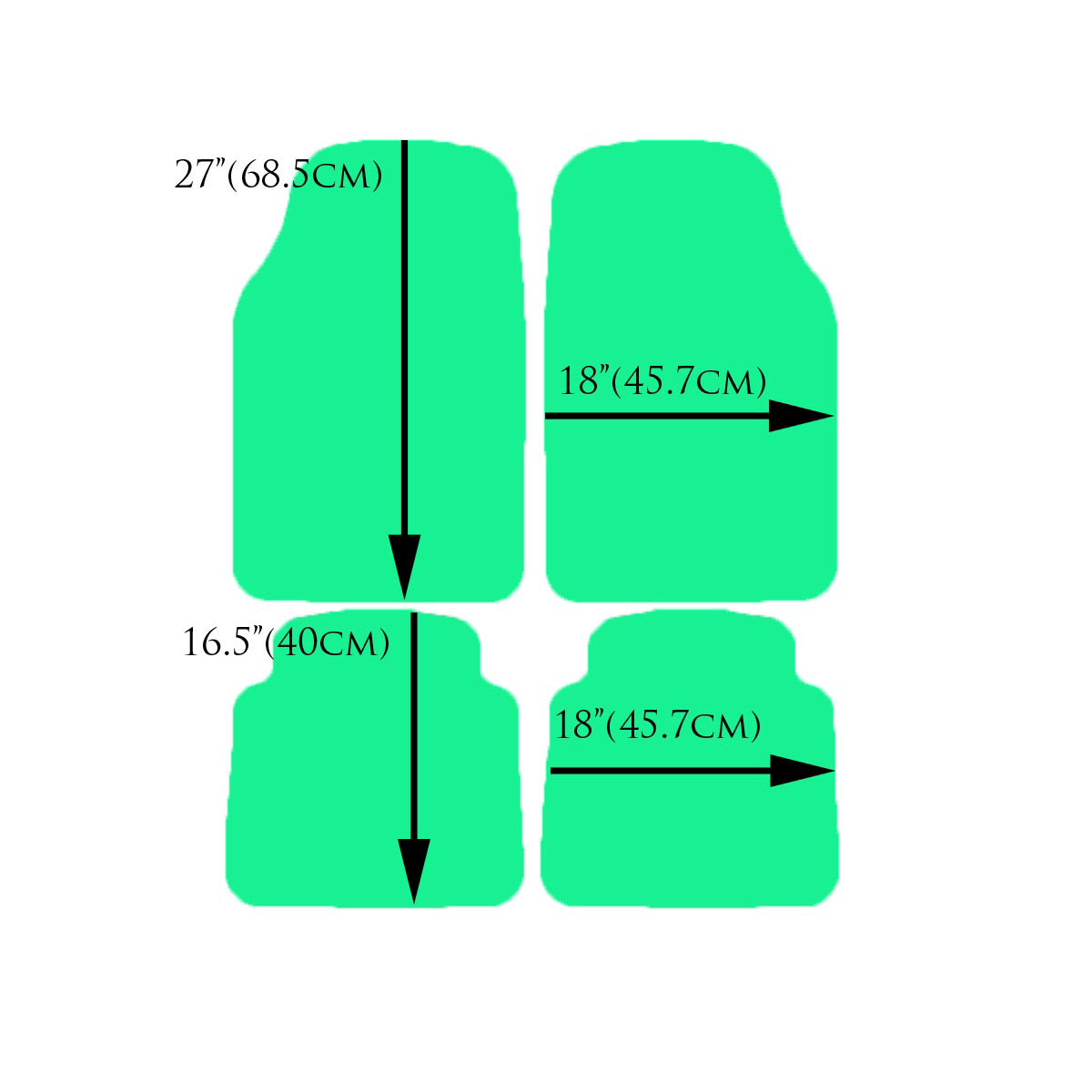 Green Car Floor Mats