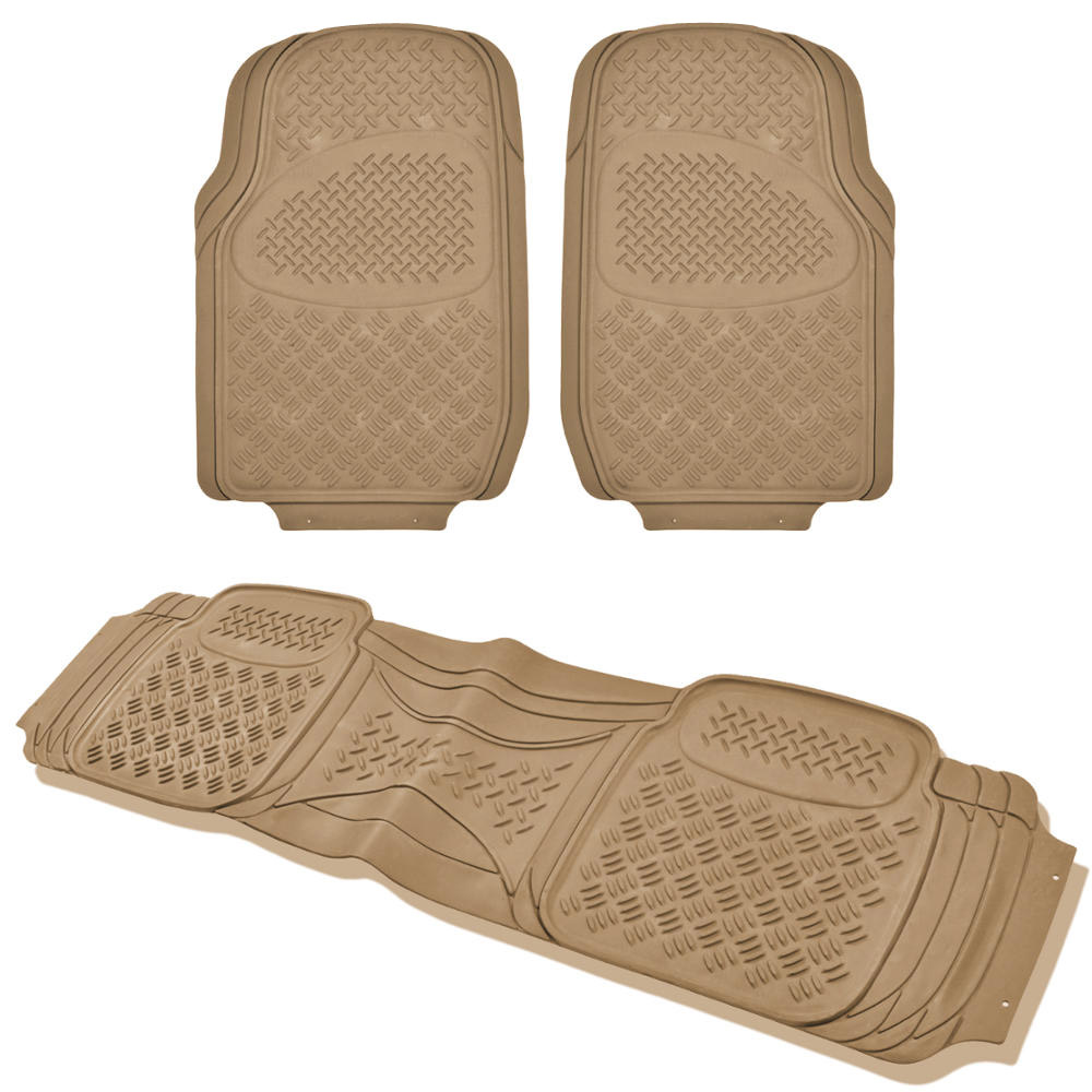 Rubber mats ebay - All Weather Heady Duty 3pc Car Suv Truck Front Rear Liner Rubber Mats