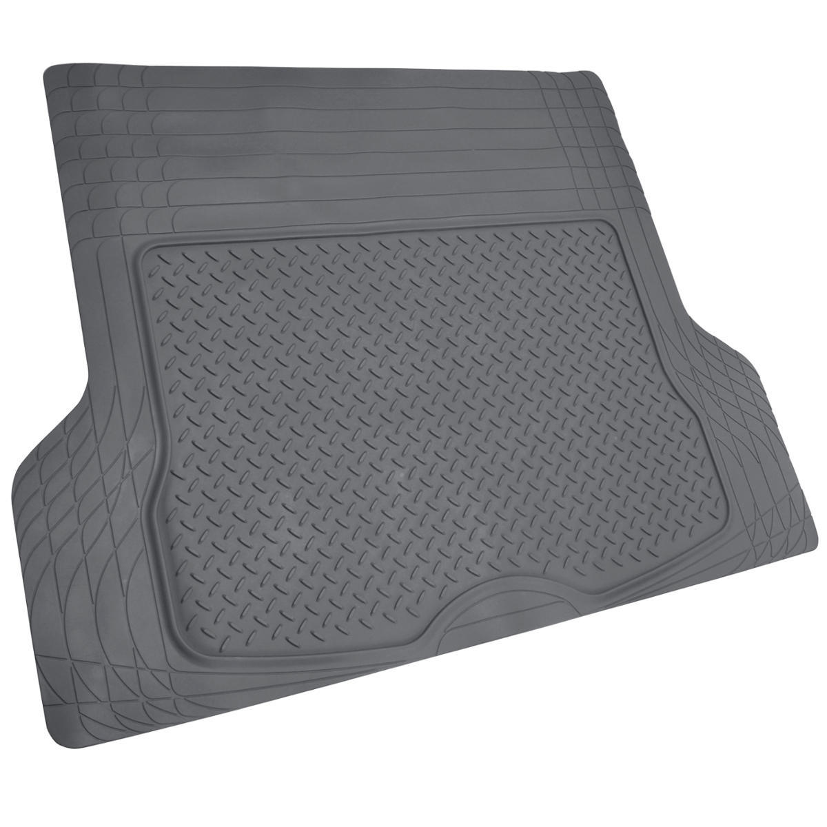 Rubber Floor Mats : Rubber floor mat for car suv hd all weather liner gray w