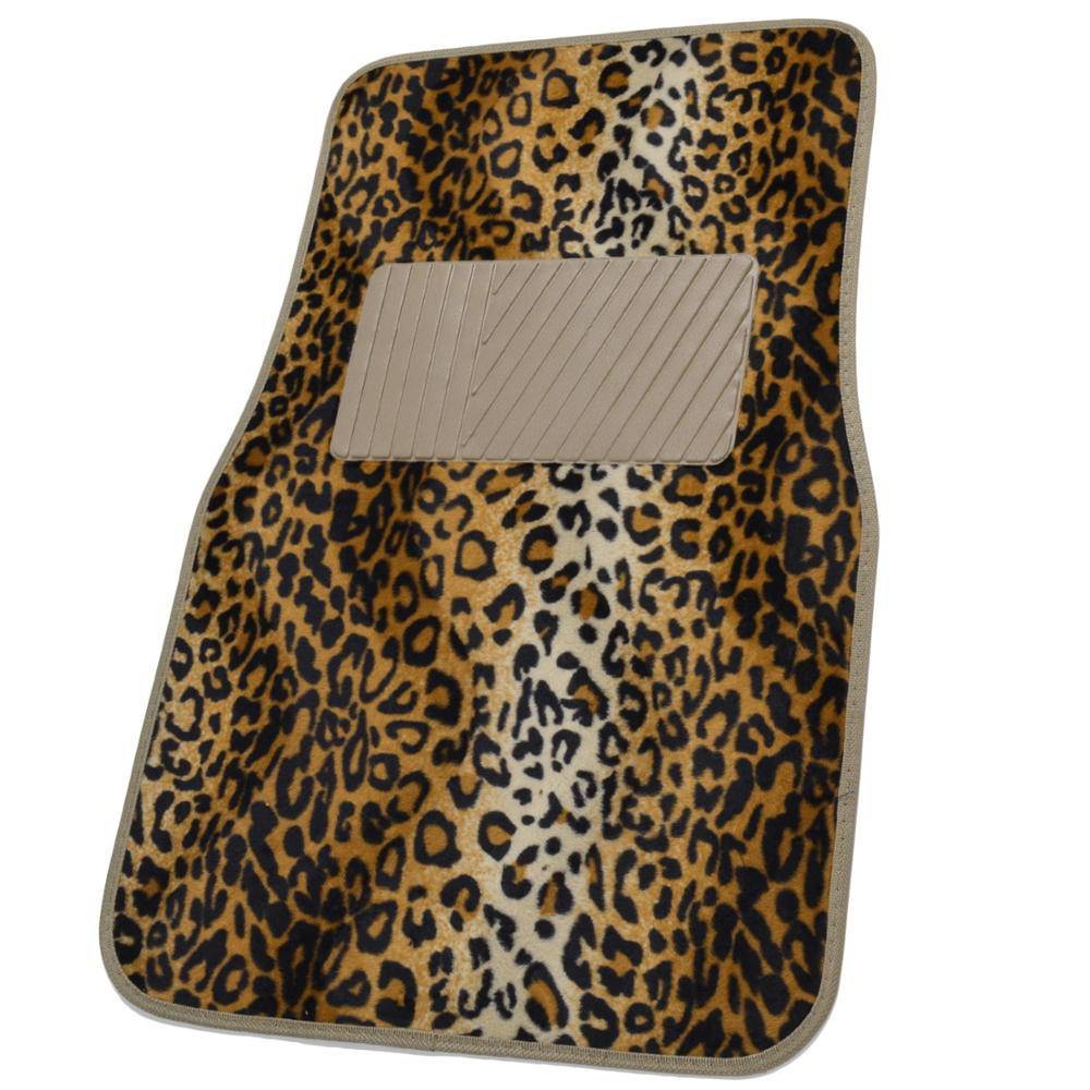Animal Print Front Rear Car Floor Mats Amp Steering Wheel