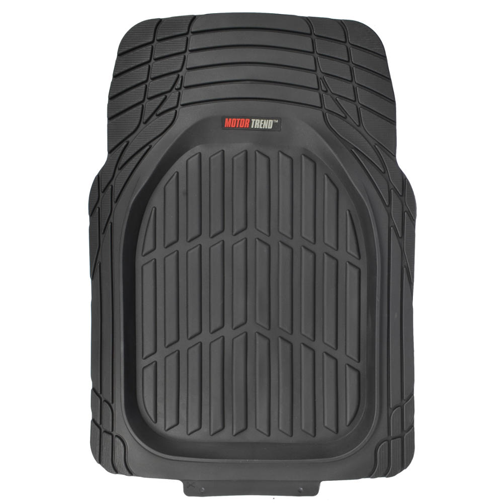 Motor trend flextough 3pc rubber floor mats thick heavy for Motor trend phone number