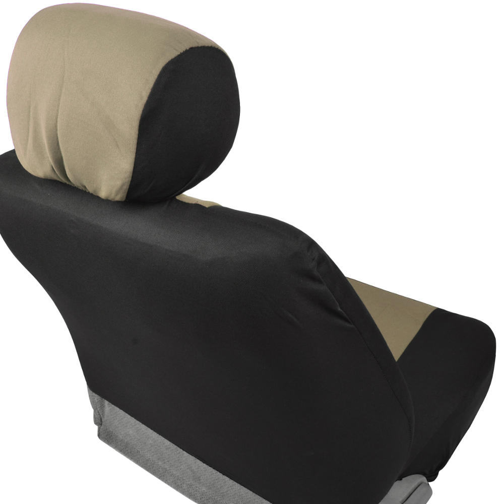 Beige Universal Full Set Of Deluxe Low Back Full Bench Car