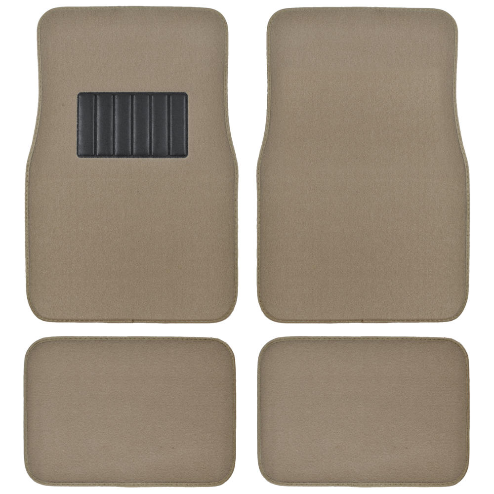 Beige Amp Black Seat Covers Set Split Bench Solid Beige