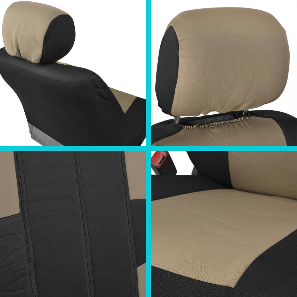 auto interior protection car seat covers carpet floor mats black beige cloth ebay. Black Bedroom Furniture Sets. Home Design Ideas