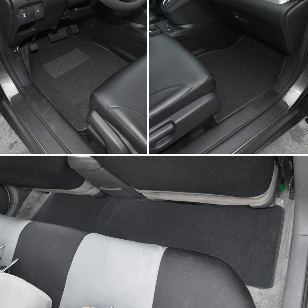 auto interior protection car seat covers carpet floor mats black charcoal cloth ebay. Black Bedroom Furniture Sets. Home Design Ideas