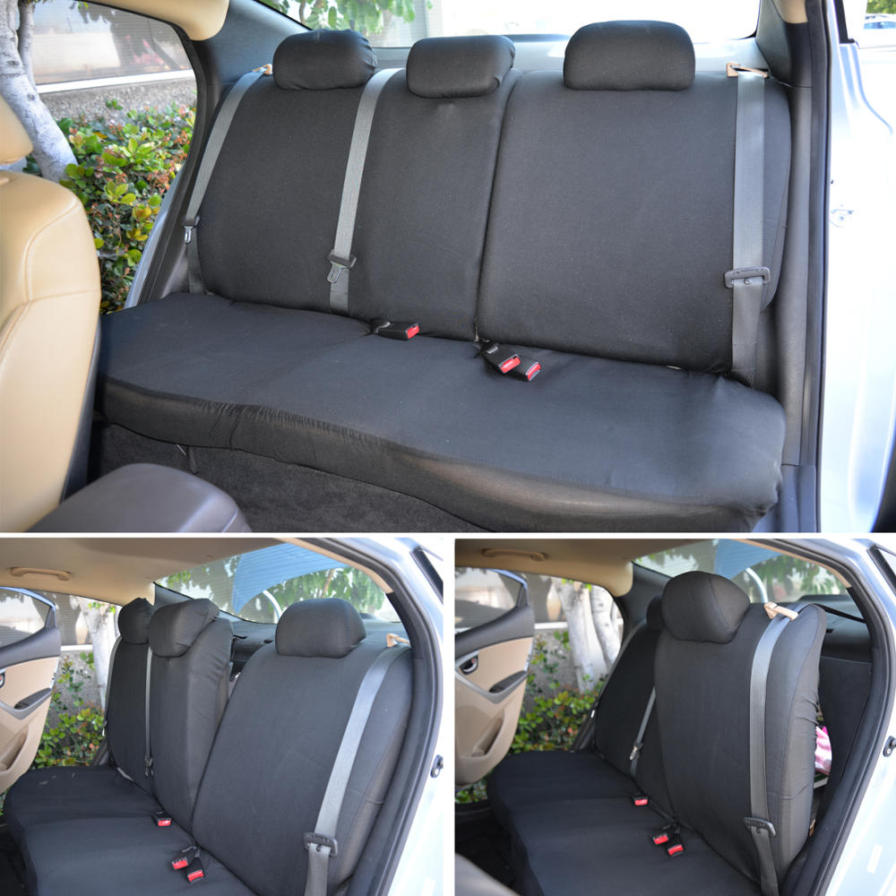 Split Bench Seat Covers ~ Car seat covers gray black polyester cloth front
