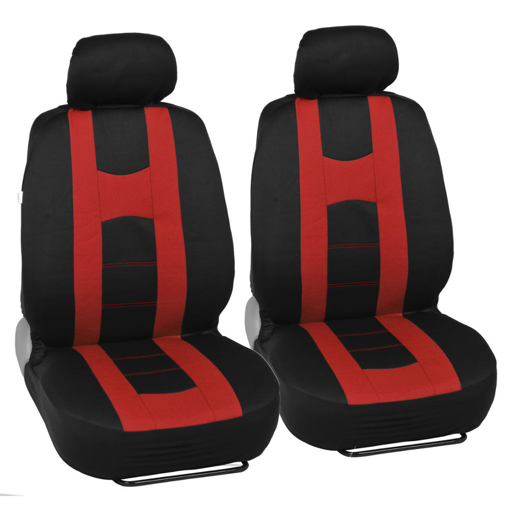 Complete Set Car Seat Covers And 2 Tone Vinyl Mats Black