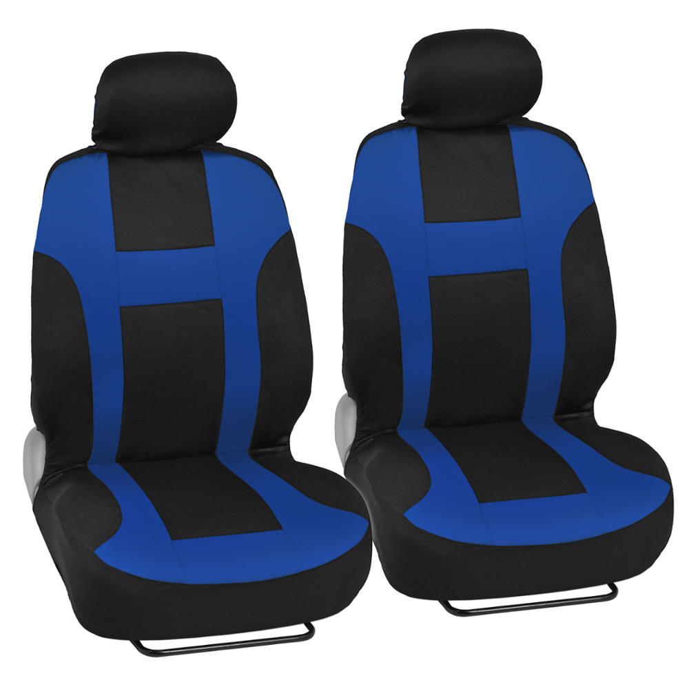 New Monaco Seat Covers Set Front Amp Rear Racing Black Blue