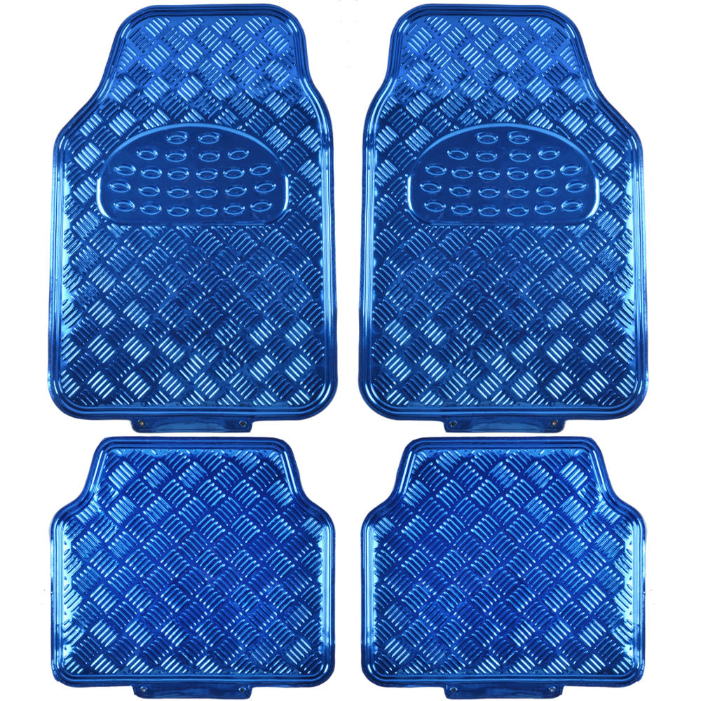 Rubber mats diamond plate - Blue Black Monaco Style Seat Cover With Blue Diamond Plate Design Rubber Mats