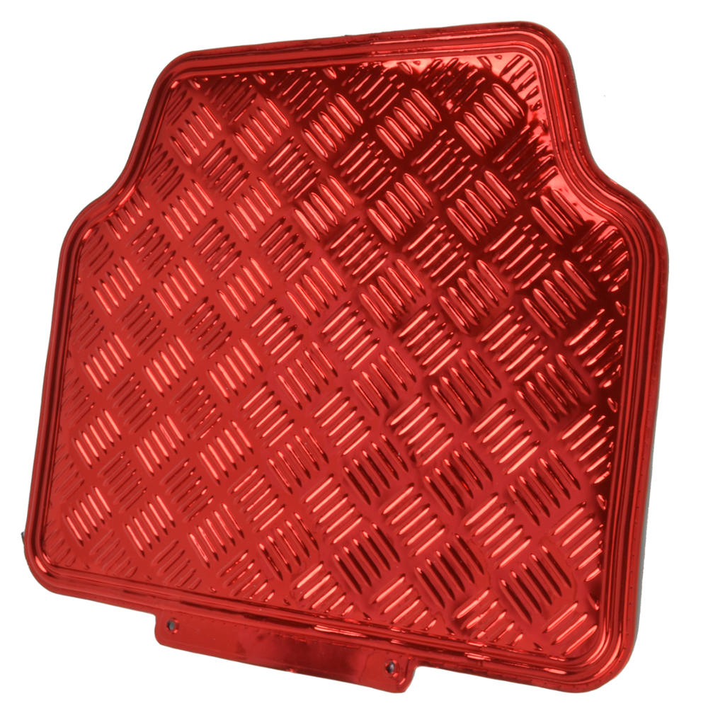 Rubber mats diamond plate - Red Black Monaco Style Seat Cover With Red Diamond Plate Design Rubber Mats 2 2 Of 11