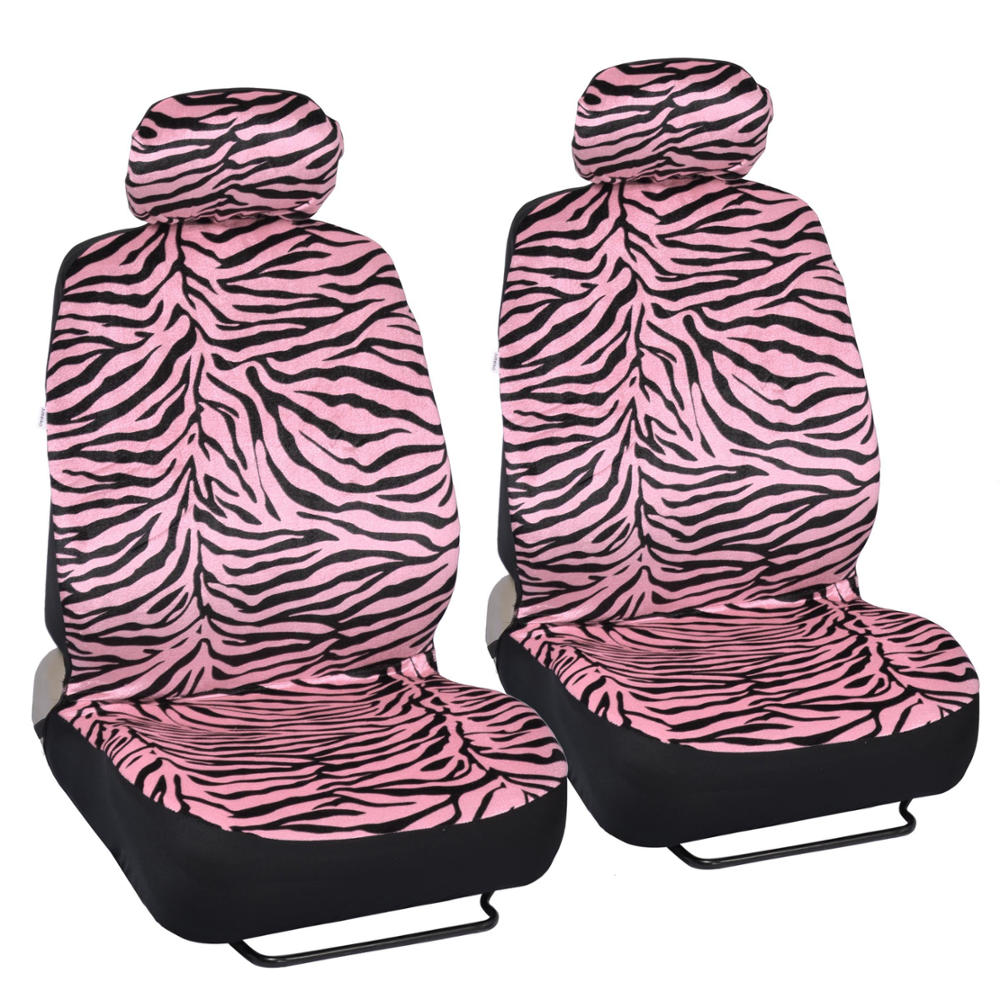 Animal Print Cute Pink Zebra Stripes Seat Covers For Car