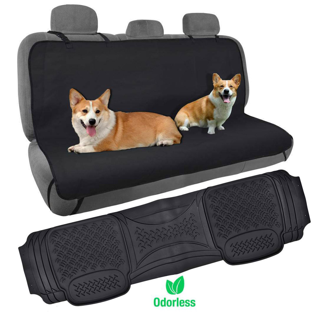 Dog Car Seat Cover Rear Bench Hammock W Odorless Car