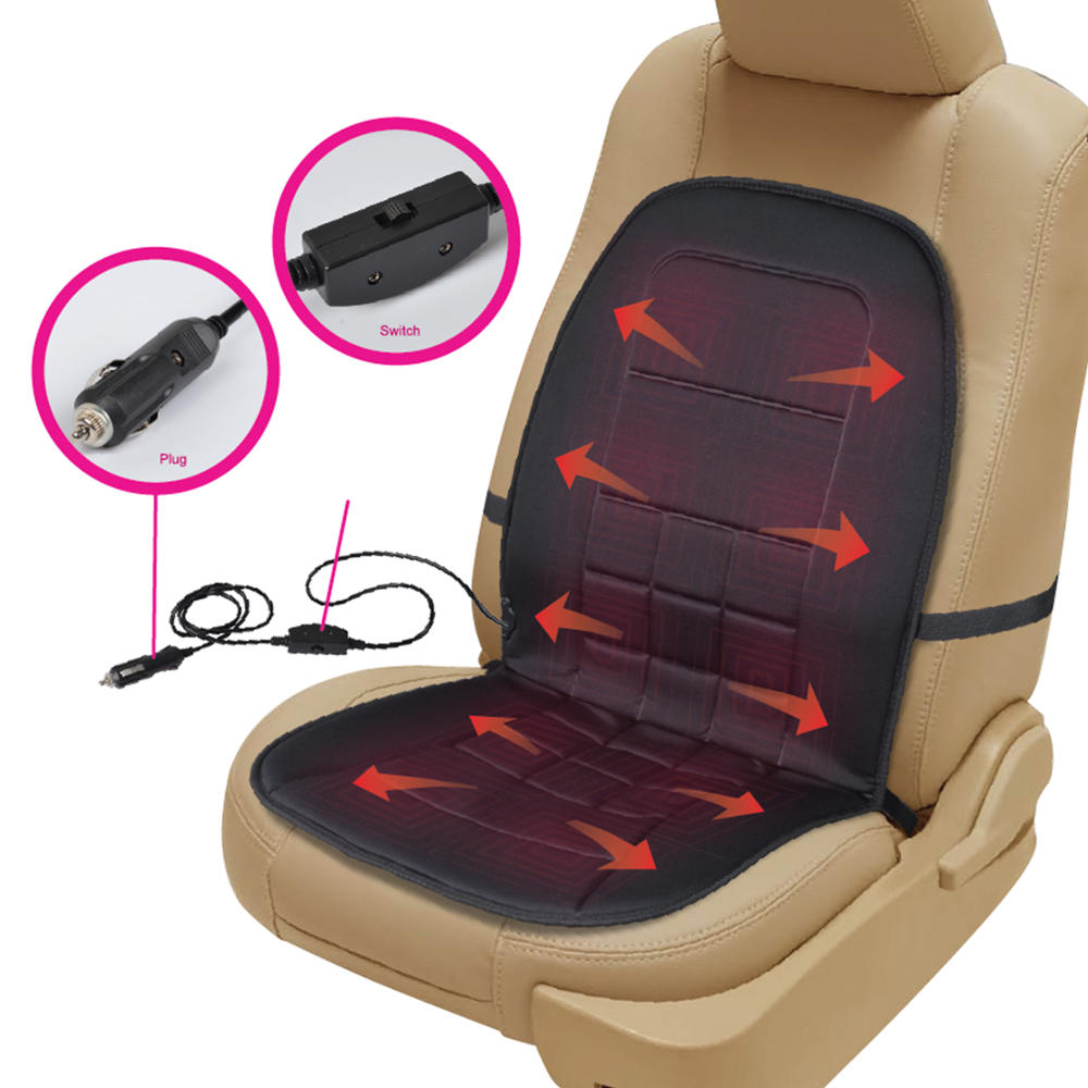 travel warmer heated car seat cushion 12 volt padded. Black Bedroom Furniture Sets. Home Design Ideas