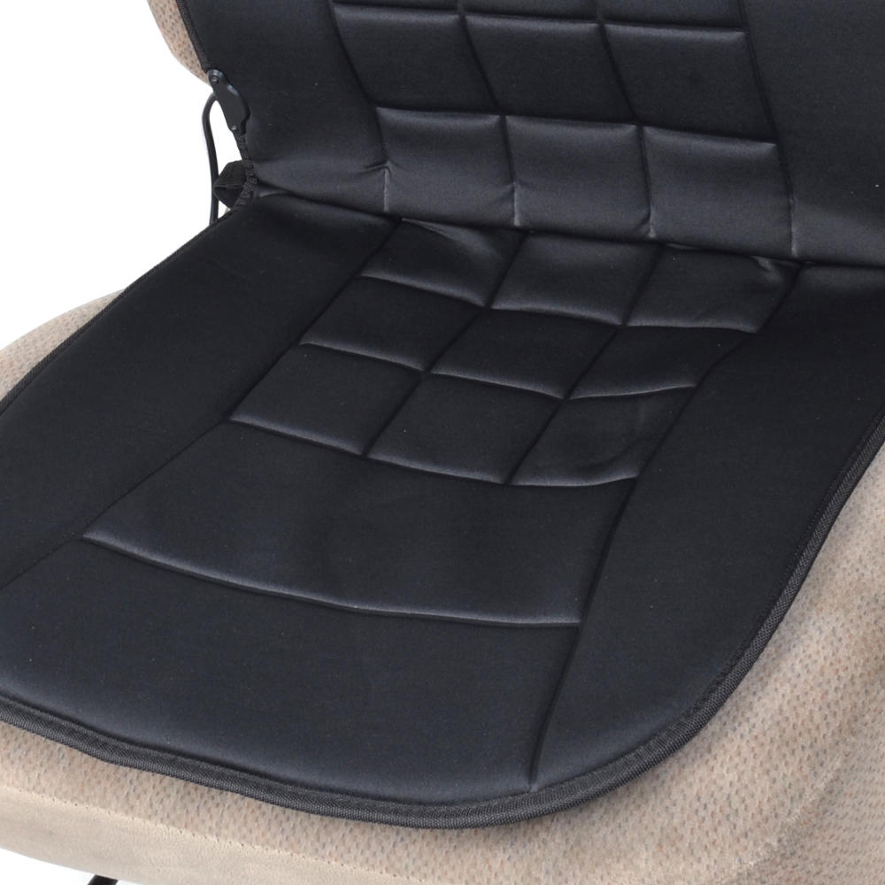 travel warmer heated car seat cushion 12 volt padded thermal release ebay. Black Bedroom Furniture Sets. Home Design Ideas