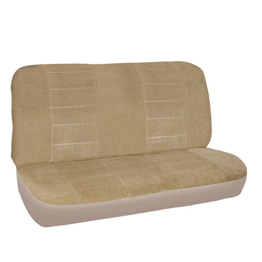 new vintage car seat covers in beige w lined ribbed texture auto floor mats ebay. Black Bedroom Furniture Sets. Home Design Ideas