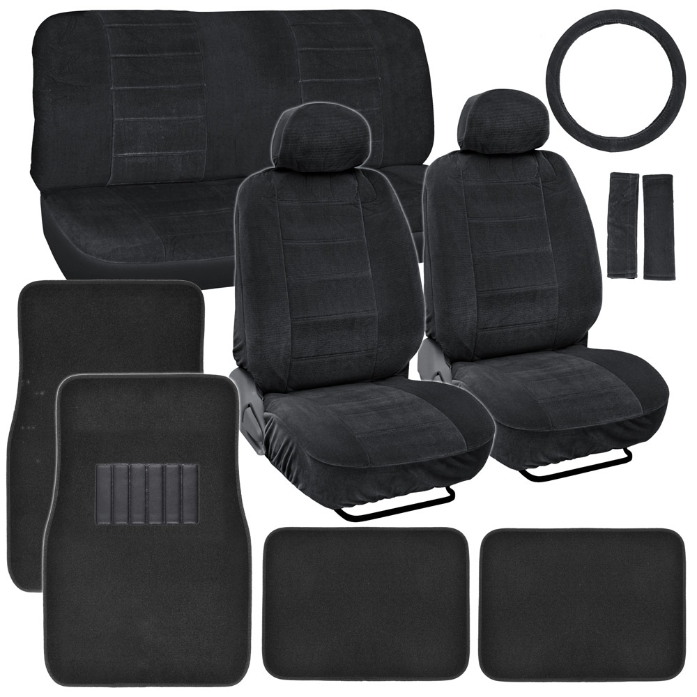 black encore car seat covers car floor mats for auto accessories classic ebay. Black Bedroom Furniture Sets. Home Design Ideas