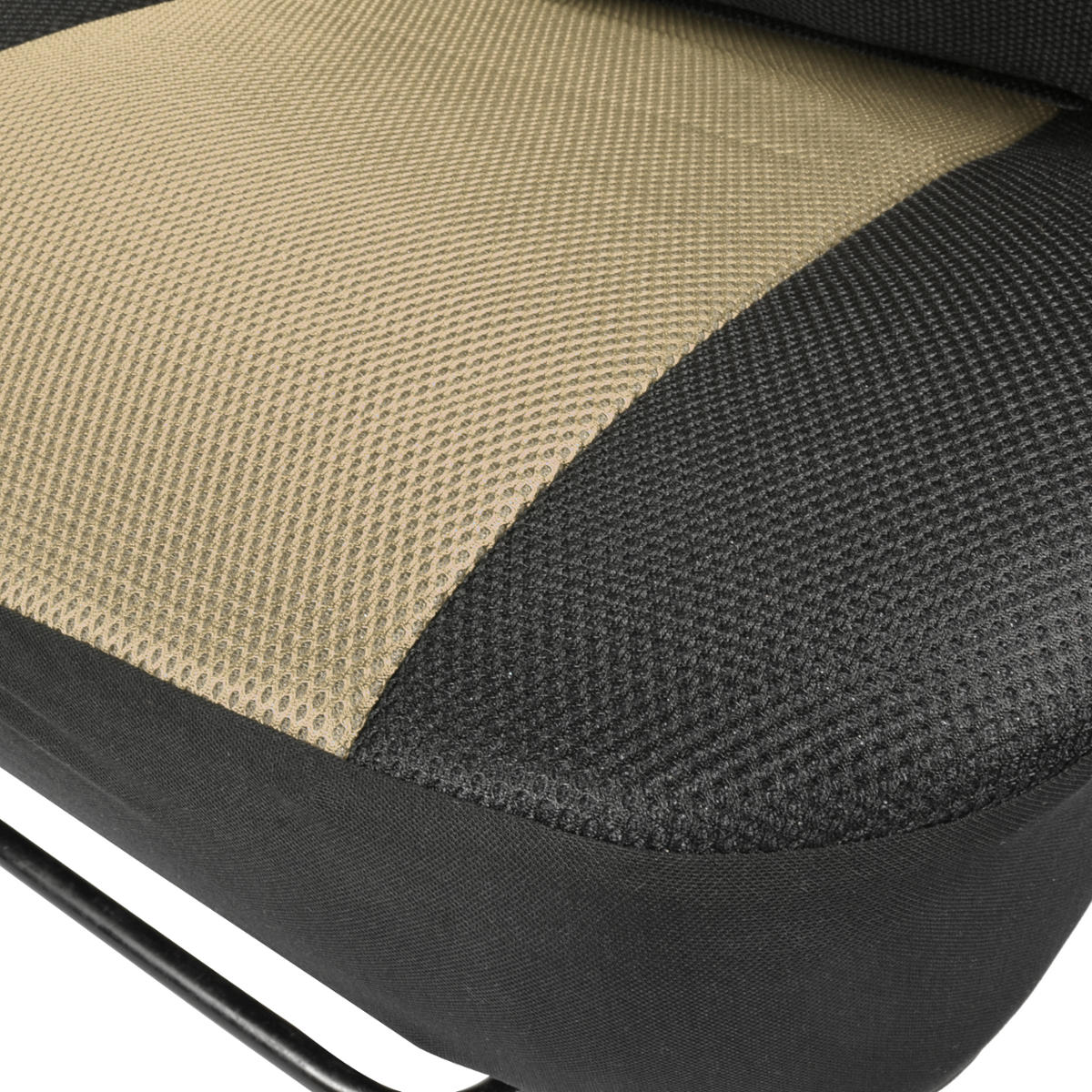 black beige mesh car seat covers premier model thickest fabric padding ebay. Black Bedroom Furniture Sets. Home Design Ideas