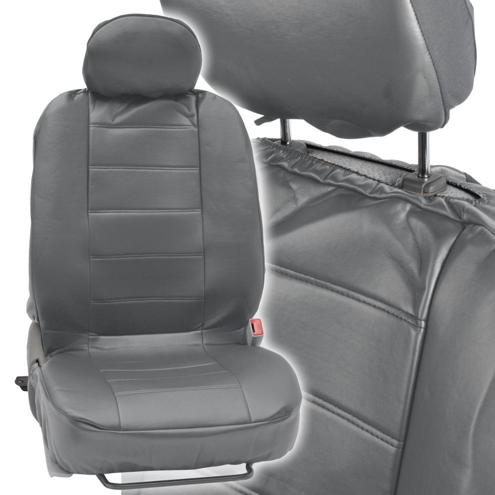 prosyn gray leather auto seat cover for hyundai sonata full set car cover ebay. Black Bedroom Furniture Sets. Home Design Ideas