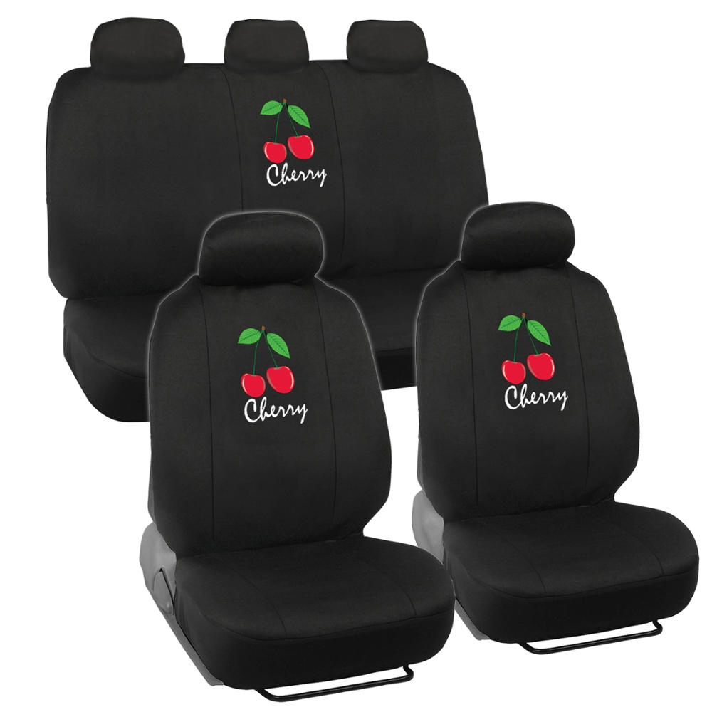 Seat Covers For Car SUV Auto Van Truck Cherry Logo Design