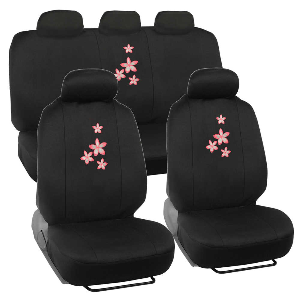flora flower car seat cover 9pc logo design ebay. Black Bedroom Furniture Sets. Home Design Ideas