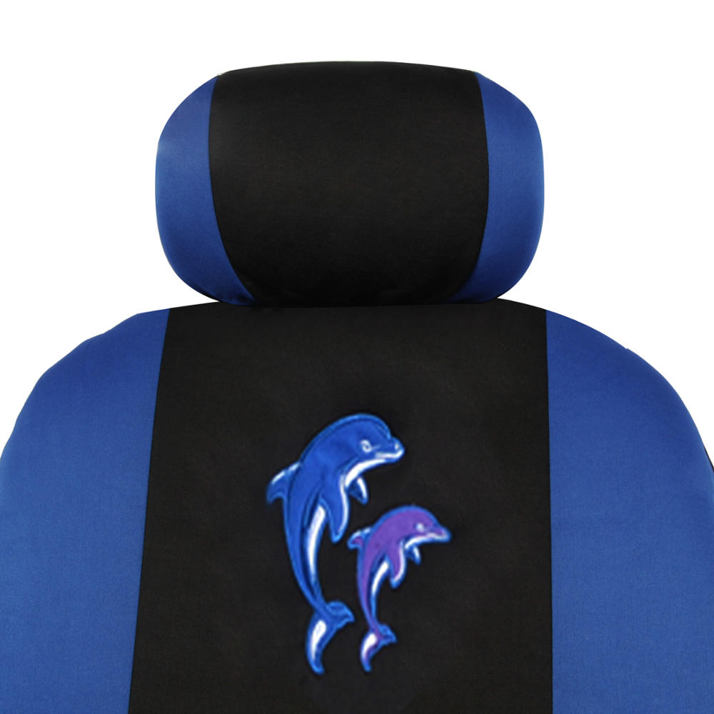 Blue Dolphin Seat Cover For Car SUV Fron Rear Set