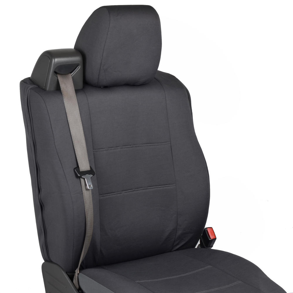 front pair custom fit charcoal gray cloth seat covers. Black Bedroom Furniture Sets. Home Design Ideas