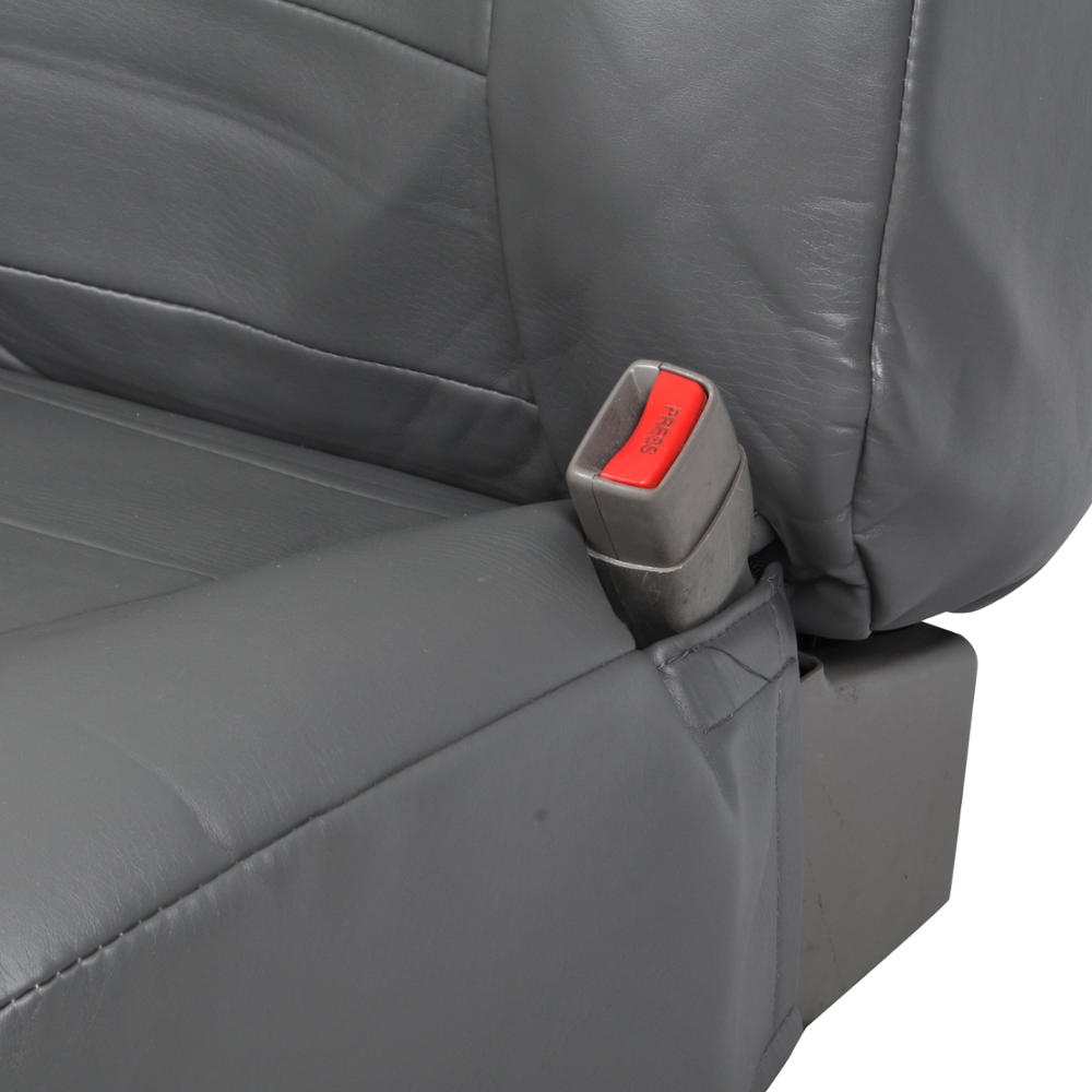 Charcoal Gray PU Leather Seat Covers Luxury For Built In
