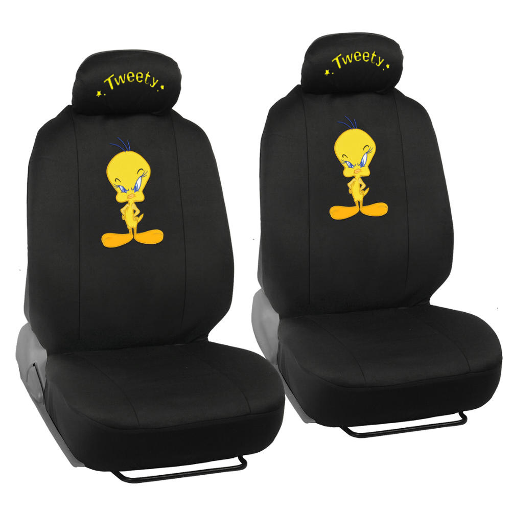 looney tunes tweety bird seat covers for car suv full set auto accessories ebay. Black Bedroom Furniture Sets. Home Design Ideas