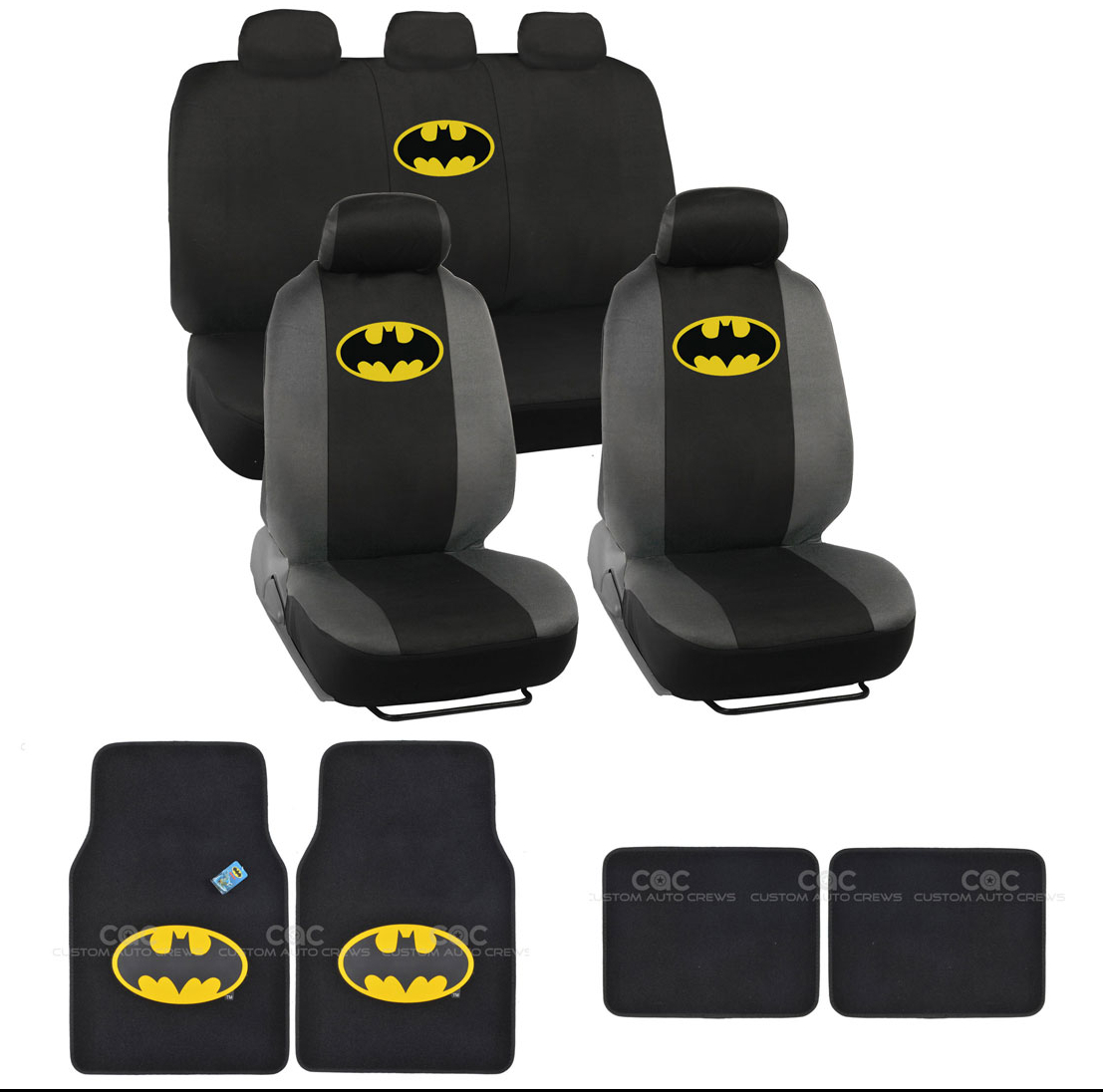Image Is Loading Batman Seat Cover And Floor Mats Full Gift