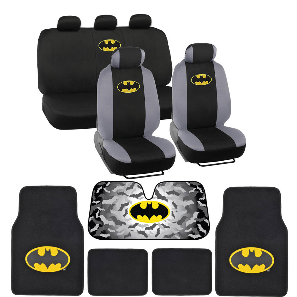 Batman Seat Covers Floor Mats Auto Shade For Car Amp SUV