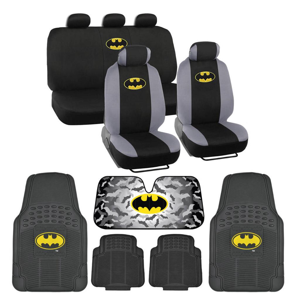 Rubber floor mats suv - Batman Seat Covers 4pc Rubber Floor Mats For Car Suv Auto Accessories