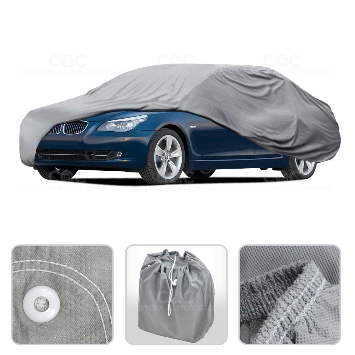 Car Cover For BMW 5 Series Outdoor Breathable Sun Dust