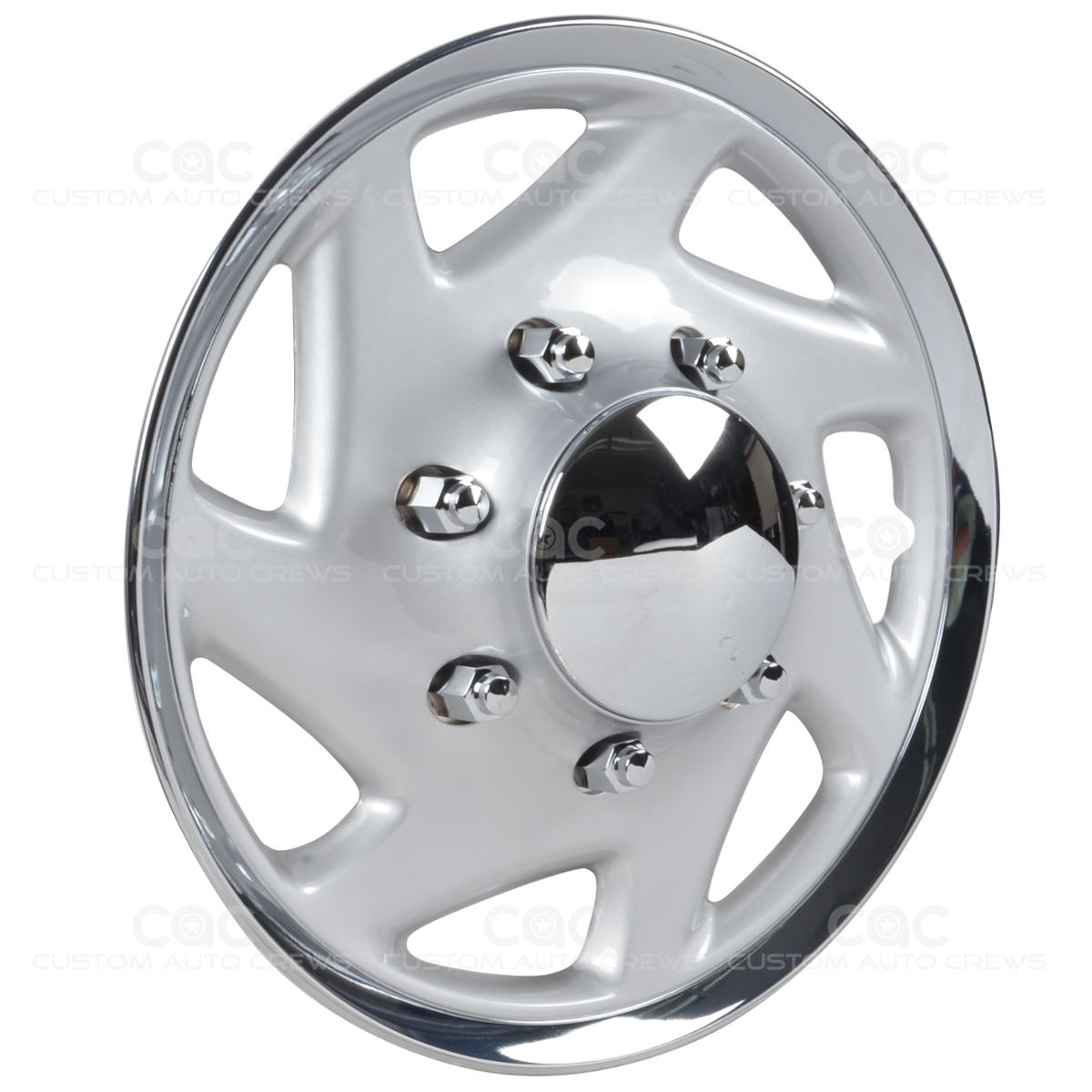4 pc hubcaps for ford e 150 250 350 truck van 16 full lug abs wheel protection