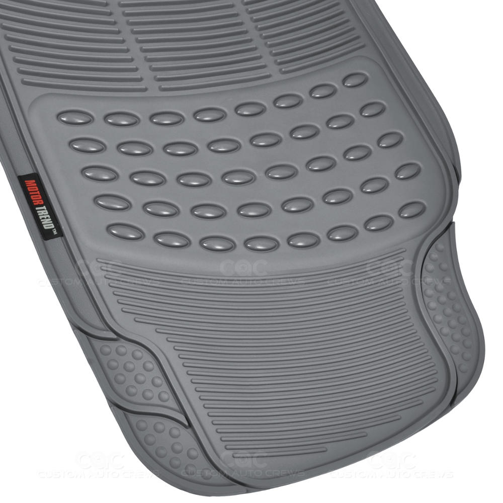 motor trend eco tech car floor mats w cargo liner gray 5 piece odorless ebay. Black Bedroom Furniture Sets. Home Design Ideas