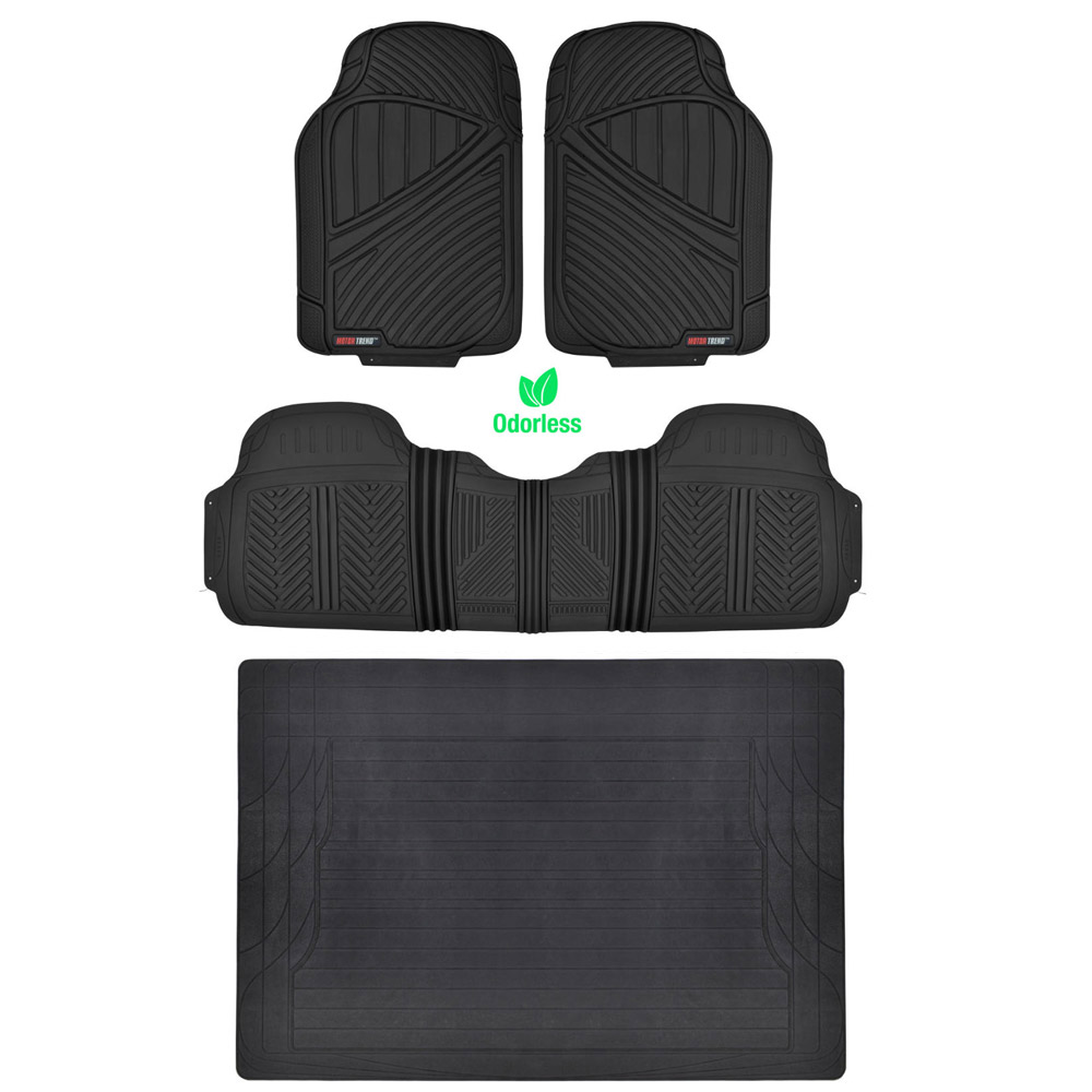 HD All Weather Car Floor Mats & Liner Set Durable Rubber