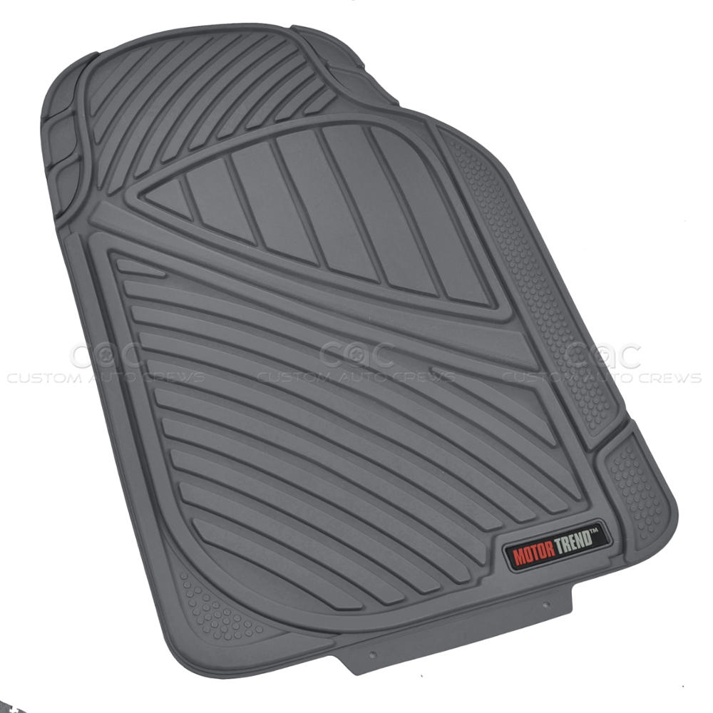 Tough Weather Motortrend 4pc Rubber Floor Mats Amp Liner