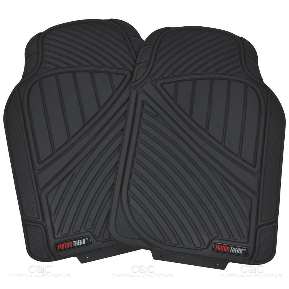 FlexTough Rubber Car Floor Mats & Cargo Set Black Heavy