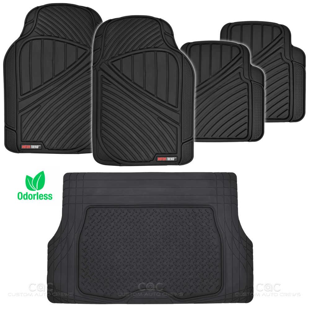 Black Flextough All Weather Rubber Mats Package 5pc Car