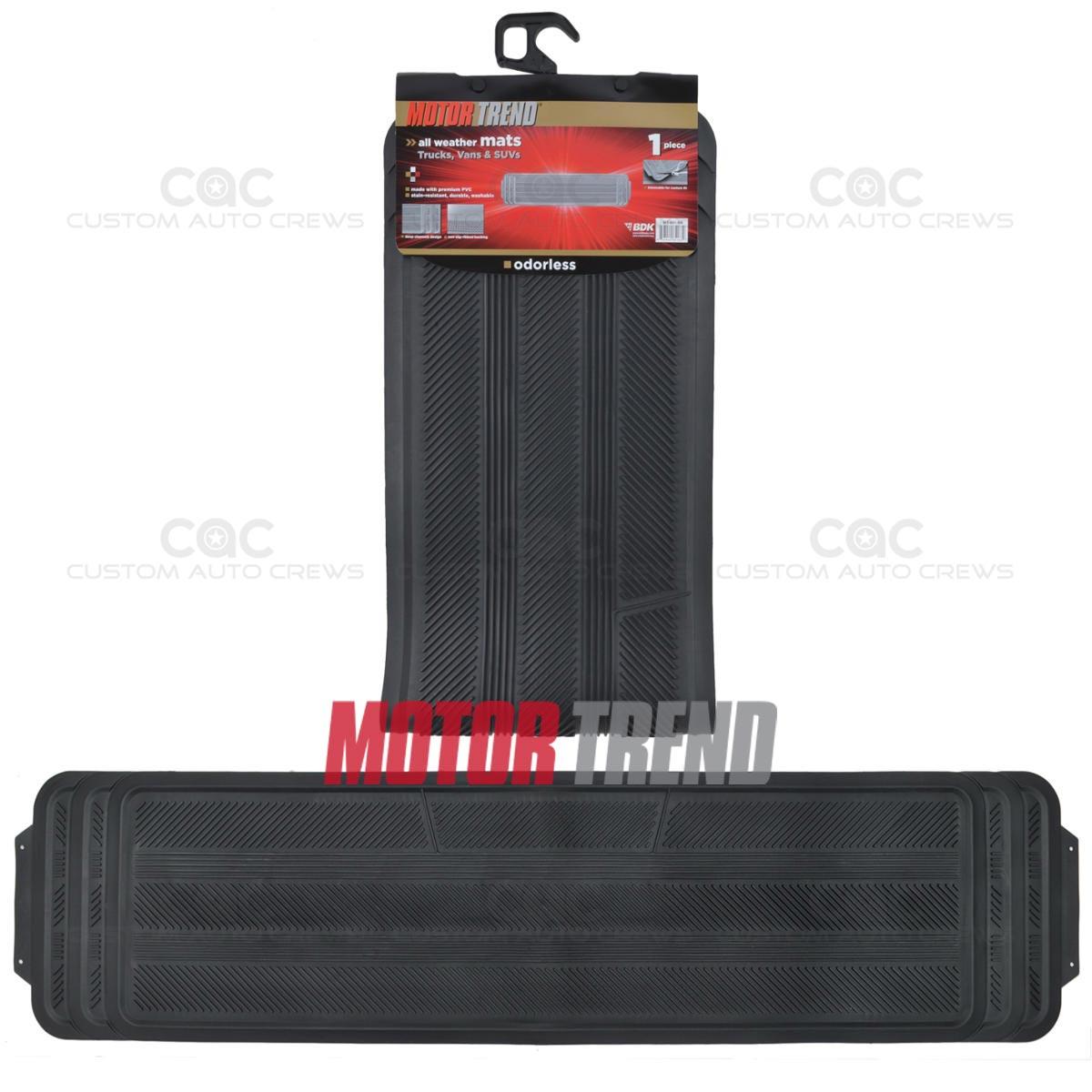 1pc Van Rear Utility Runner Black Floor Mat