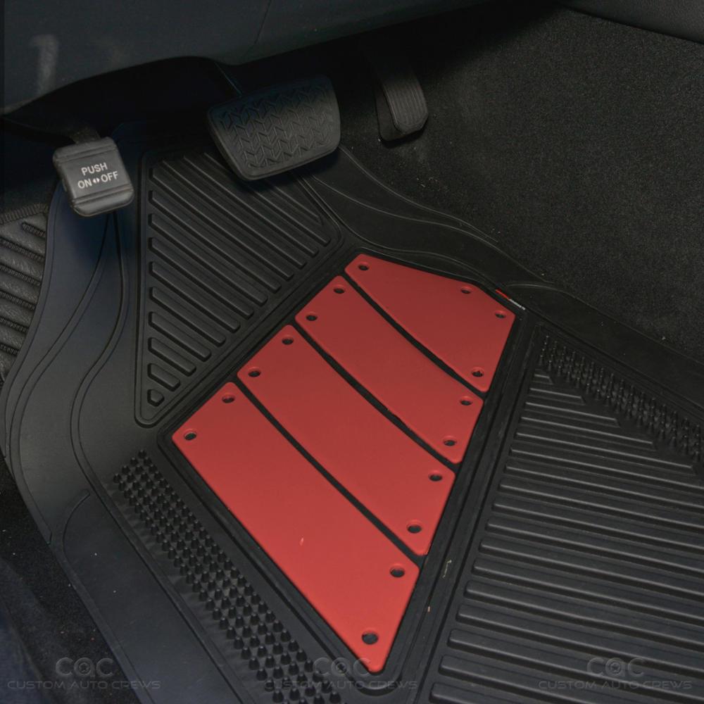 Flextough 2 Tone Red Deep Channeled Rubber Car Floor Mats