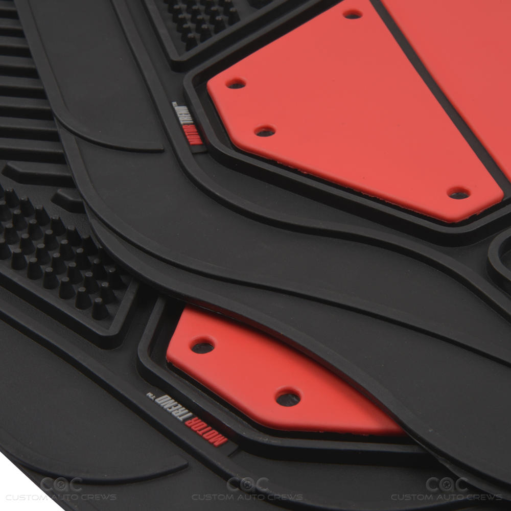 Flextough Red Solid Rubber Floor Mats Heavy Duty Deep