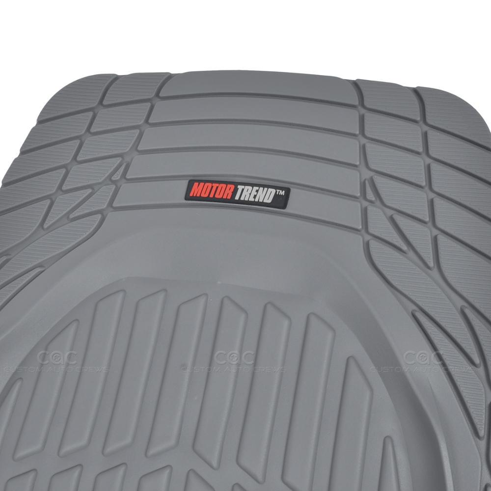 Deep Dish Heavy Duty Rubber Car Floor Mats 4pc Front Rear