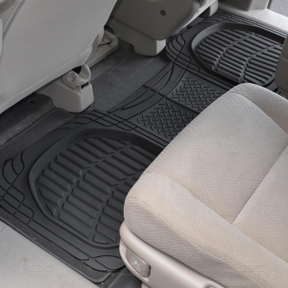 Motor trend deep dish rubber floor mats cargo set for Motor trend floor mats review